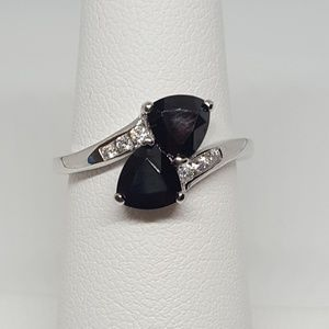 Jewelry - Sterling Silver Double Cut Ring